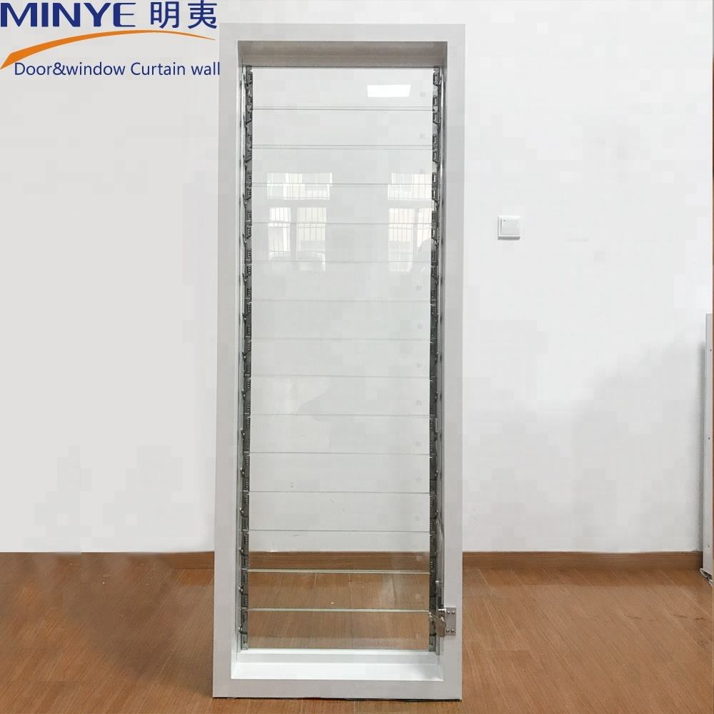 louver frosted glass blade shutter windows