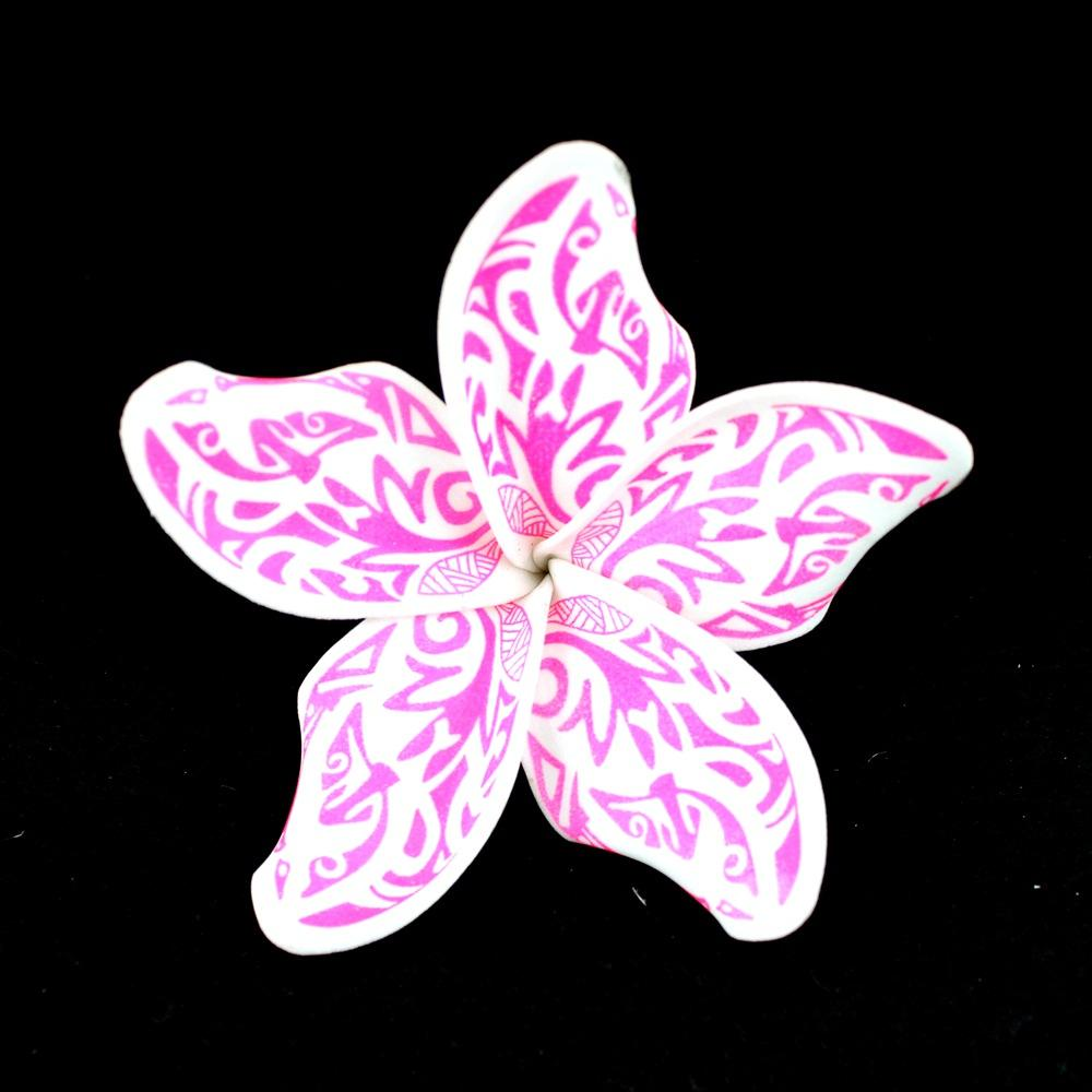 Art printed foam hawaii flowers for Dancer party Summer beach polynesian decoration #56151
