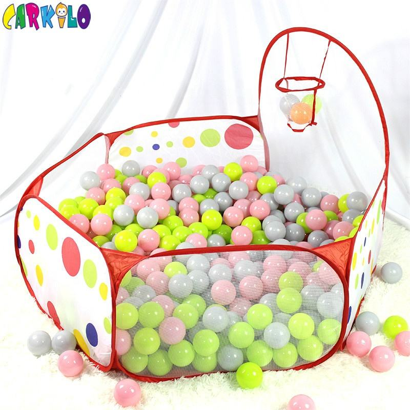 Baby play ball pit home indoor small playground for kids folding potable ball pool