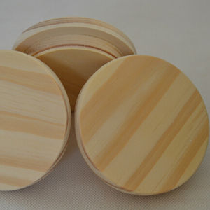 pine wood lid 81mm*20mm natural wooden lid for candle jar