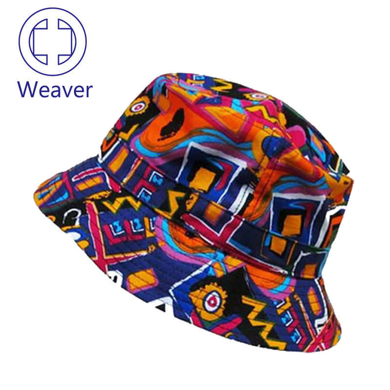 Personalizzato Canve Estate Floding Tesa Larga Colorful Tie Dyed Bucket Hat
