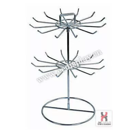 Metal wire key rings display shelf/handkerchief display holder for shop/Supermarket display stand