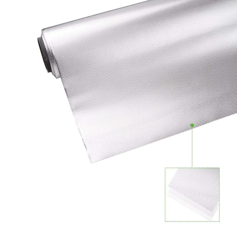 4ft x 100ft Silver Mylar on White or Black PE Backing Diamond Reflective Grow Sheet for hydroponic in stocks