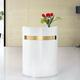 Modern White Small Curved Reception Counter Beauty Salon Store Front Desk