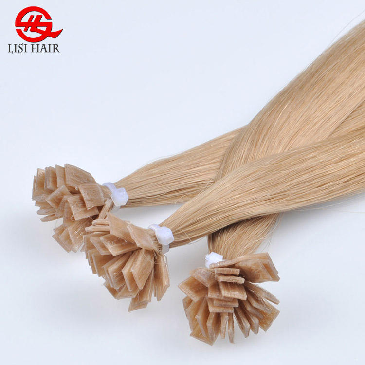 Free Sample Italy Keratin Hair Extension Flat Hair Tip Hair Factory