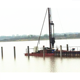 Offshore Marine Diesel Pile Driver barge for sale