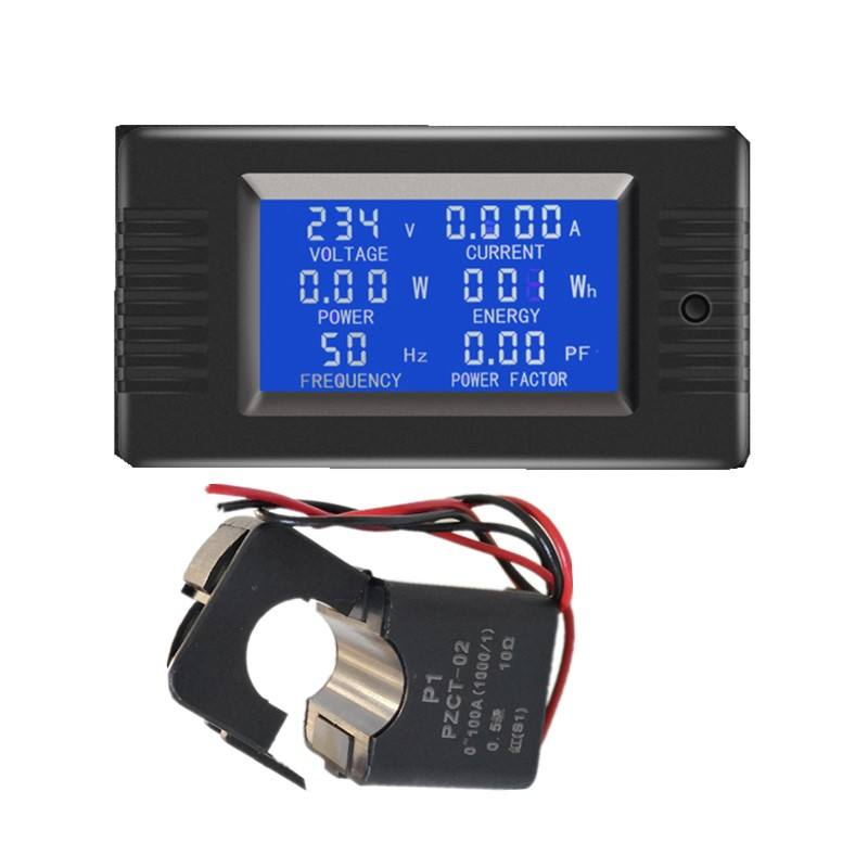 2018 New PZEM-022 6in1 Volt Amp Watt Energy Frequency Energy Power Factor Single Phase Solar Power Meter AC Current Meter
