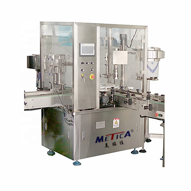 Automatic monoblock 5-50ml vials and perfume filling and capping machine dropper bottle filler and capper
