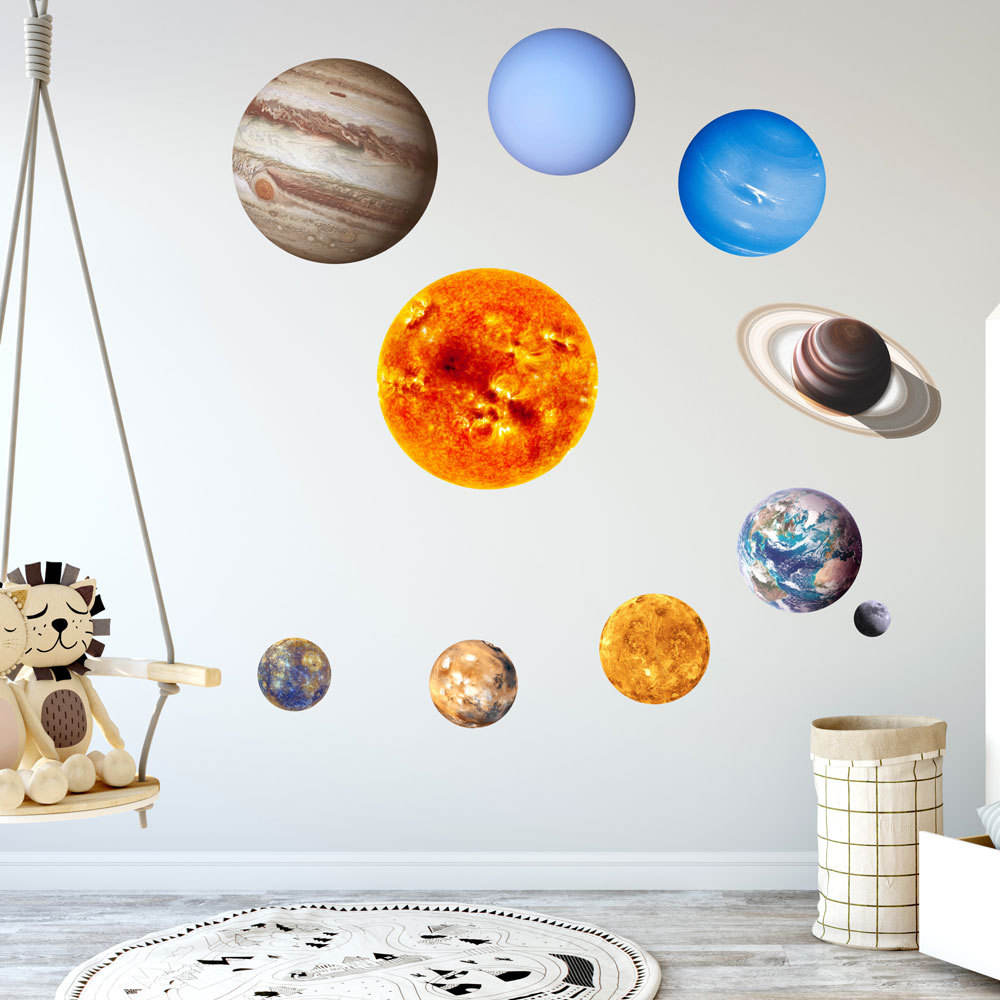 Myway light in the night solar system planets wall stickers,vinyl decals