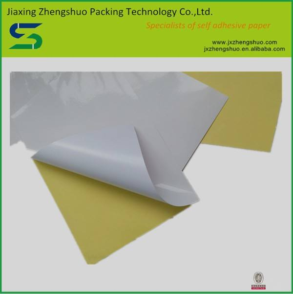 Bargain price hot sale adhesive glossy label sticker paper a4