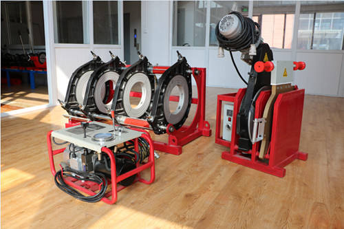 High quality SHBD450 Hydraulic hdpe pipe butt fusion welding machine for plastic pipe from 450mm to 200mm