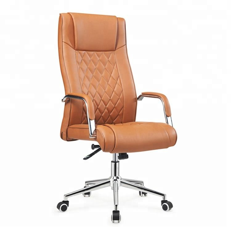 Comfortable Executive Chair Height Adjust PU Office Chair Senior PU Swivel Chair For Office
