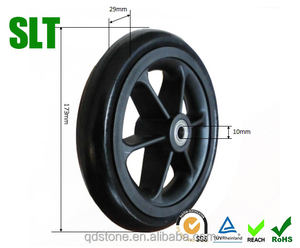 7 inch wheelchair front wheels pu wheels folding wagon wheels