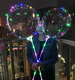 Outside lighting for event and parties glow in the dark flashing helium bubble balloons stick globos LED BoBo light up balloon