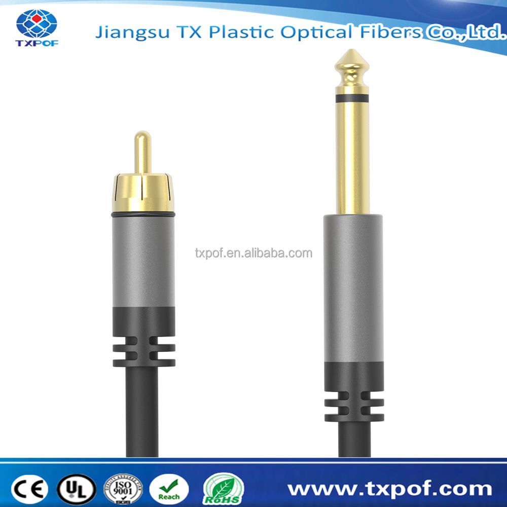 "6.35 mét 1/4 ""Mono jack TS Nam để Cắm RCA Nam Audio Cable <span class=keywords><strong>Dây</strong></span> Wire"