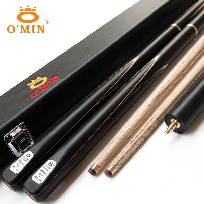 O'MIN Assassin 3/4 joint ash wood shaft Ebony Butt Snooker Cue for sale