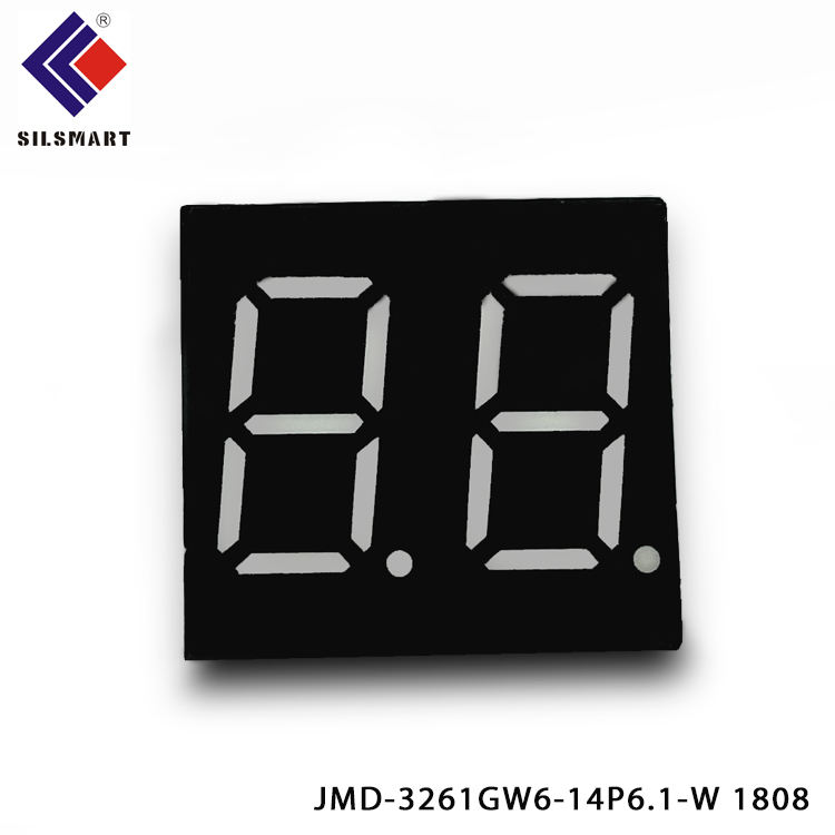 High brightness Silsmart factory 0.36 inch 2 digit 7 segment led display red /white/ blue color mini size led screen