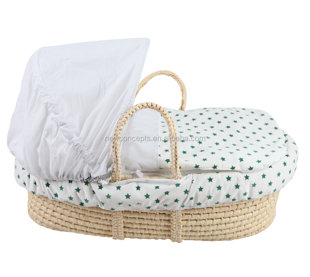 2015new design baby plush moses basket for baby sleep ,baby basket