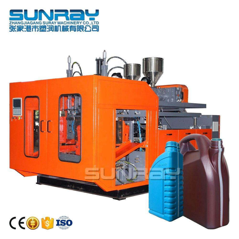 Blow Molding Machinery For Hdpe Of Jerry Can 1liter 5L View Strip Lubricant Engine Oil Bottle Making Machine