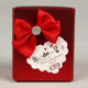 Custom Red Paper box presented to friends, relatives, etc. at wedding Candy box with satin belt bowknot
