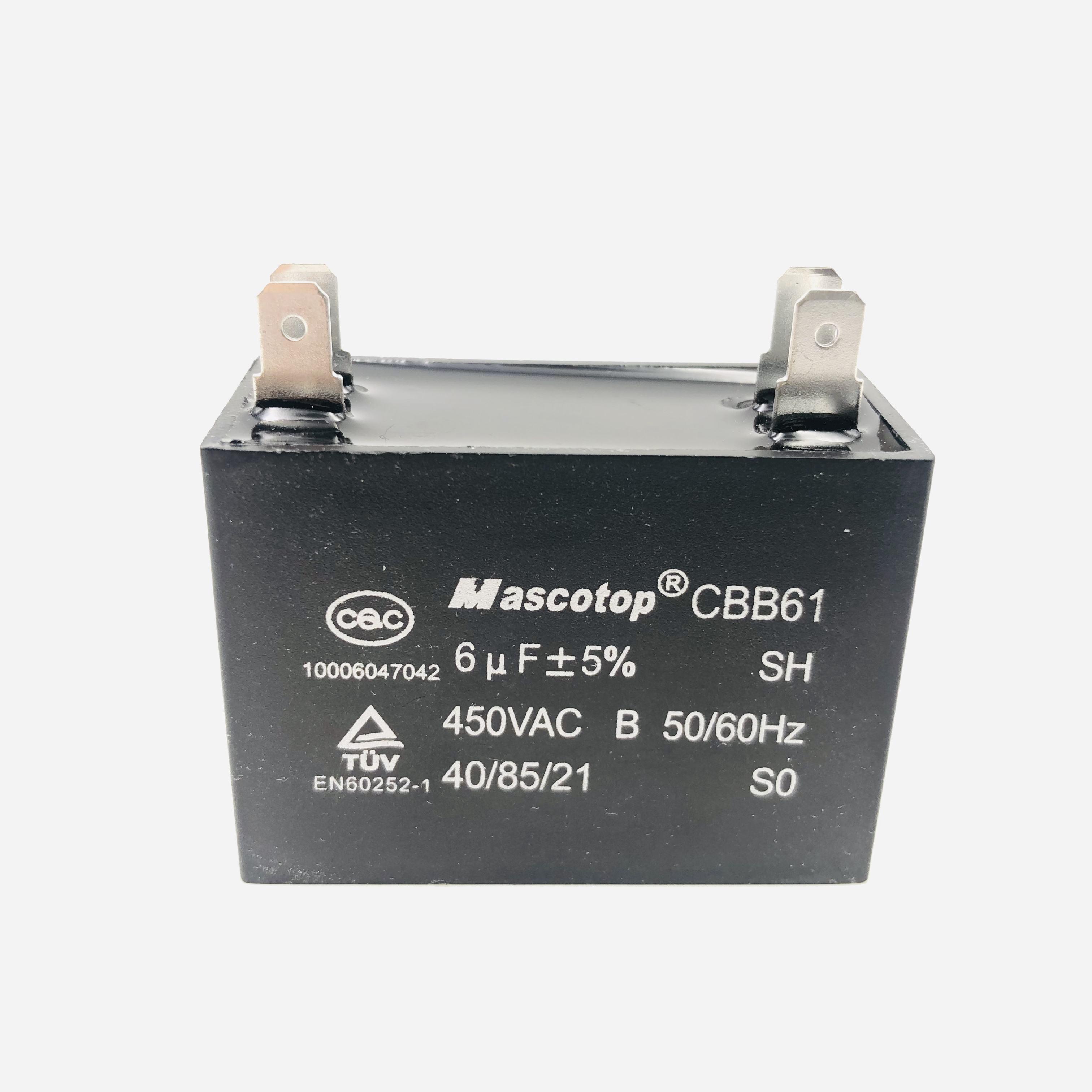 CBB60 Run Capacitor 450VAC 450 VAC 45uF 45 uF 450V AC 45MFD SH P2 C W//CE TUV