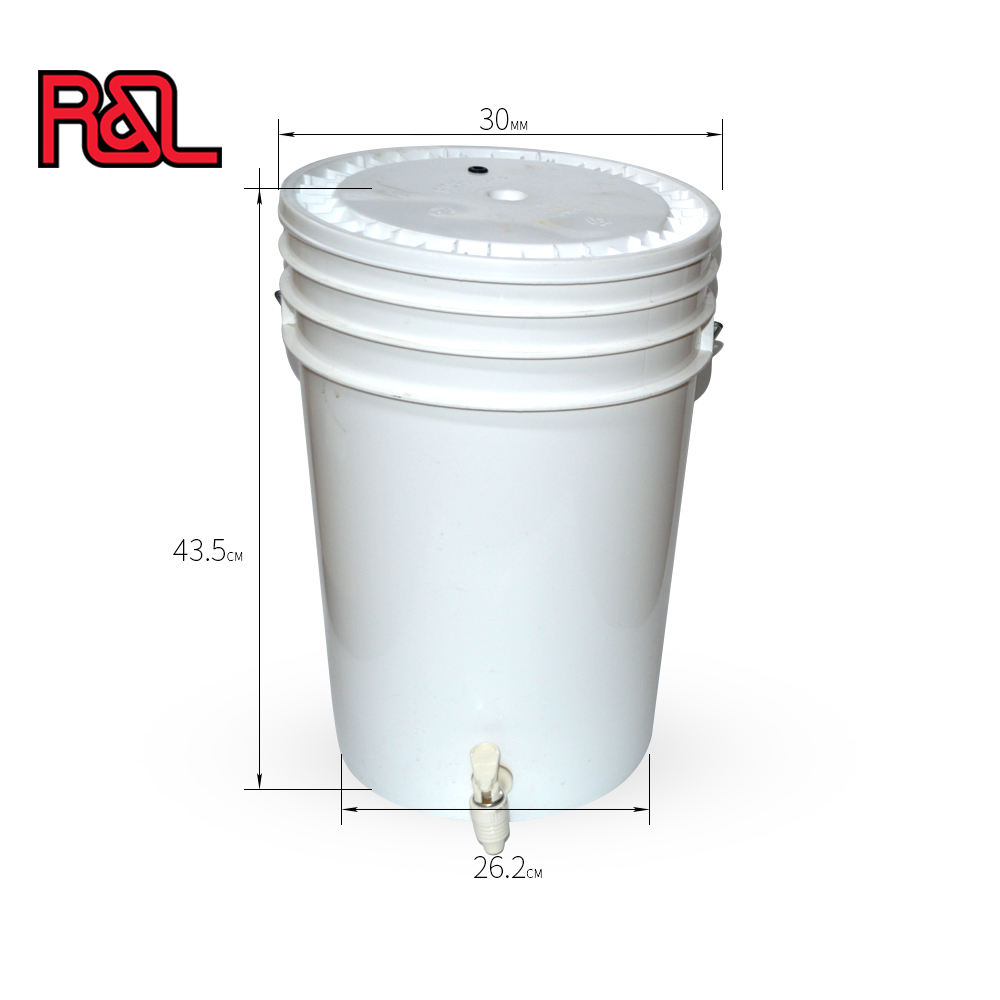 Brewery equipment Bar Accessories Homebrew 25L Plastic Fermenter Buckets With Tap and grammoted Lid