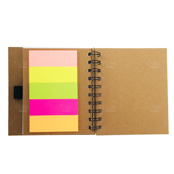 Promotional Pocket Sticky Notes Sticky Note With Colorful Book Markers Memo Pad Small Gift