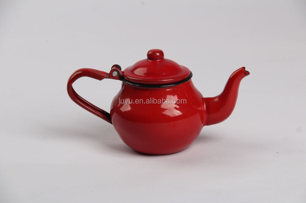 Hot sale 9-14cm enamel small tea kettle enamel tea pot
