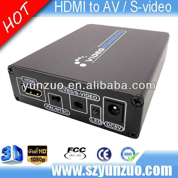 1080p hdmi a 3 compuesto av rca cvbs s- convertidor de vídeo dvd tv <span class=keywords><strong>crt</strong></span> ps3 apple tv