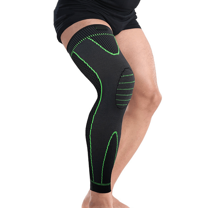 Hot Selling Mens Adjustable Breathable Spandex Long Sports Knee Sleeve
