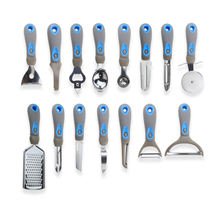 New Arrival Best Selling 15PCS Multifunction Durable Stainless Steel Soft Handle Kitchen Gadgets and Tools Set