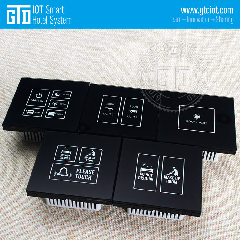 433 wireless 1 way 2 way or multi-way control 230V AC crystal glass touch switch solution