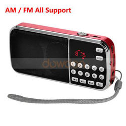 Portable HIFI Mini FM AM Radio Speaker MP3 Music Player Amplifier with LED Flashlight