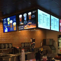 Restaurant Indoor LED Menu board Light Boxes Wall Advertising Display