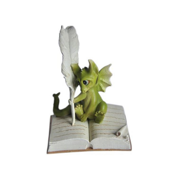 魅惑ストーリー妖精ガーデンドラゴン書き込み屋外像