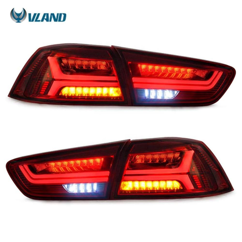 VLAND LED 4 PCS Tail Lights Conversions EVO X 2008-2017 Sequential Indicator Rear Lamps Assembly For Mitsubishi Lancer