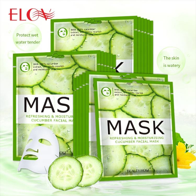 Wholesale Skin Care Korea Moisturizing Oil Control Cucumber Facial Face Mask Popular Hydrating Lifting Fruit Organic Facial Mask