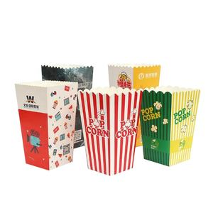 Custom printed mini popcorn boxes with cardboard paper
