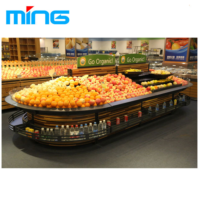 Groente fruit plank rack supermarkt display planken