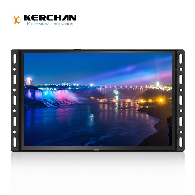 Promotie 10 inch open frame touch screen digitale totem reclame-monitor plank mount