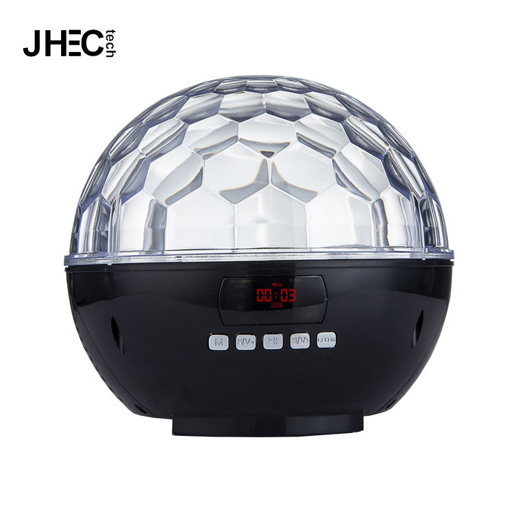 Factory wholesale colorful led magic ball stage usb sd disco light wireless speaker for party