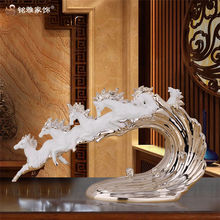 Home decoration pieces handmade animal ornament horse figurines resin