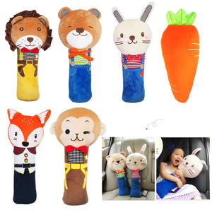 Lovely Child Auto Pillow Padding Seat Belt PP Cotton Cartoon Children Car Seat Belt Cover Shoulder Pads