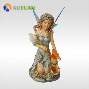 Wholesale High Quality 3D Lifelike Fairy Resin Figurine Decoration Polyresin Model