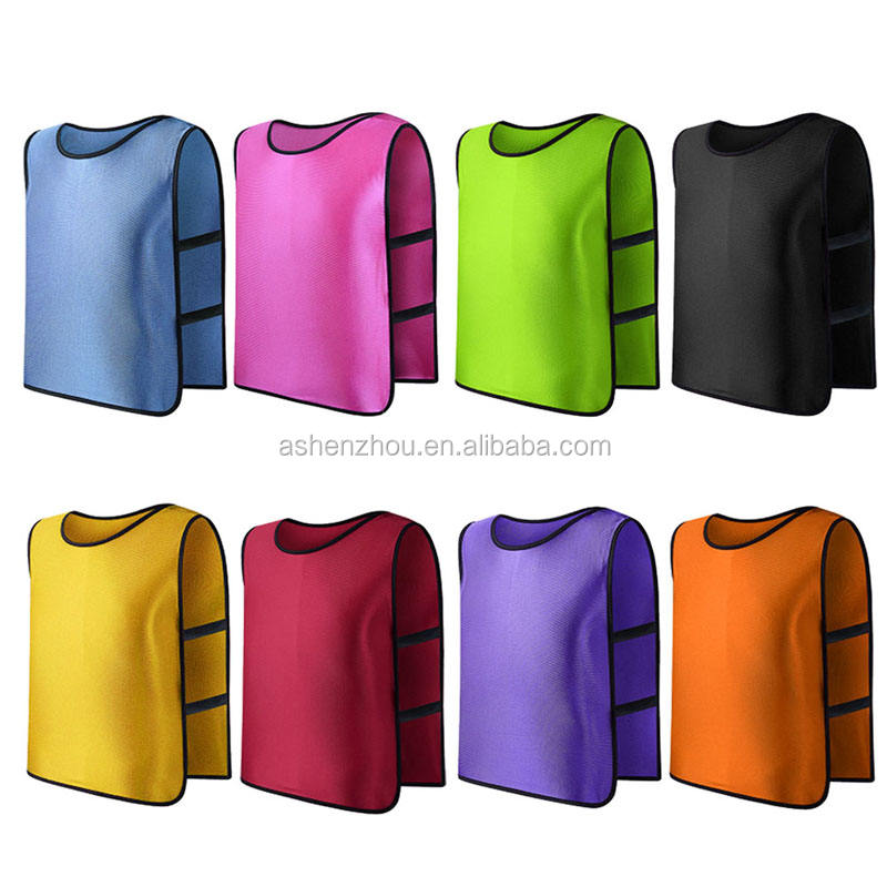 High quality cheap price custom multicolor mesh sports soccer training bibs for men women and kids