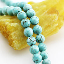 Real Natural Turquoise Stone Loose Beads for Necklace Jewelry DIY Making Design