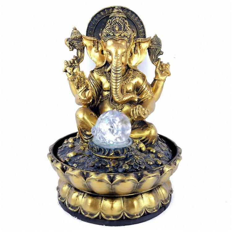 Indian Buddha resin crafts decorative fountain indoor feng shui desktop water fountain furniture gifts