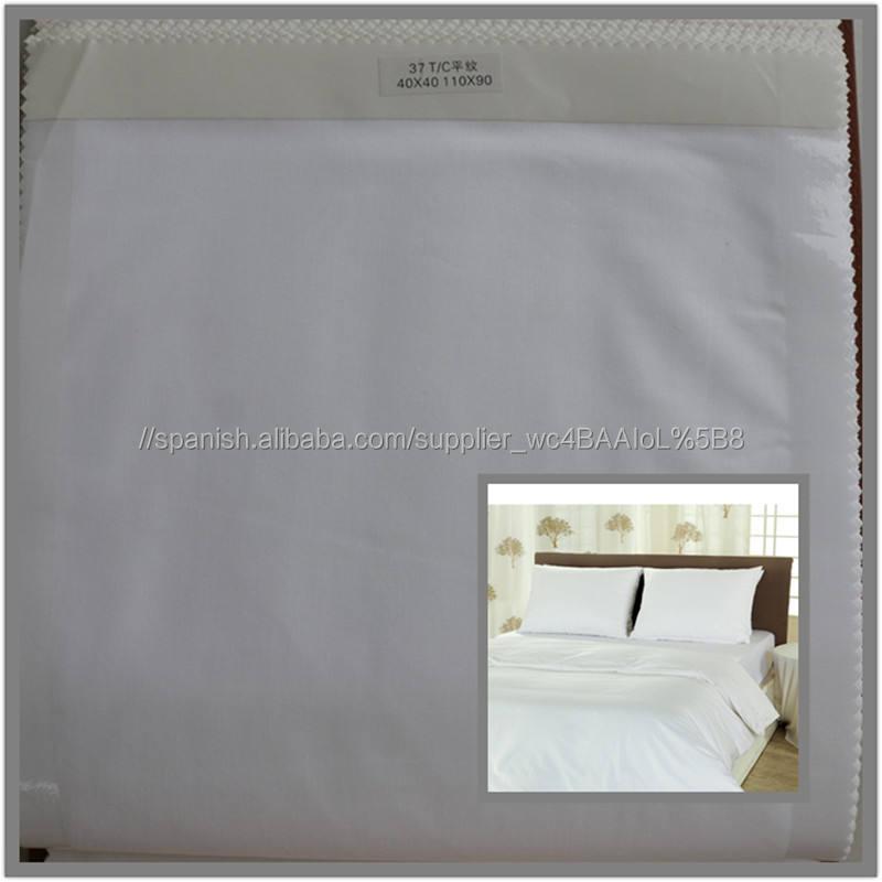 poliéster-algodón mezclado tc CVC tela de tejido plano para la fabricación de ropa de <span class=keywords><strong>cama</strong></span> 40x40 110x90 200T
