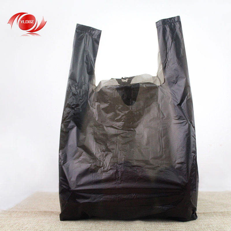 Cheap Wholesale Household waste plastic bags portable garbage bag ,black vest carrier bags