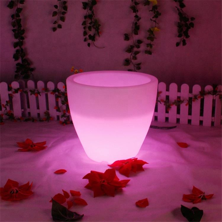 En Plastique rougeoyante LED Pot